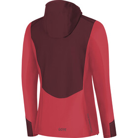 GORE WEAR R3 Windstopper Hooded Jacket Damen hibiscus pink/chestnut red